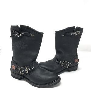 Harley-Davidson leather motorcycle boots size 6